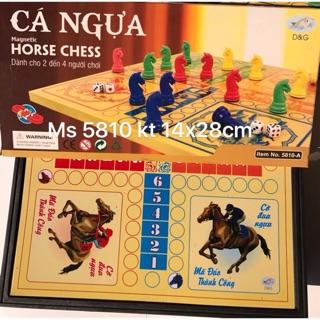 Cờ Cá Ngựa bàn đen. Mã:CN. kích thước 14x28cm.