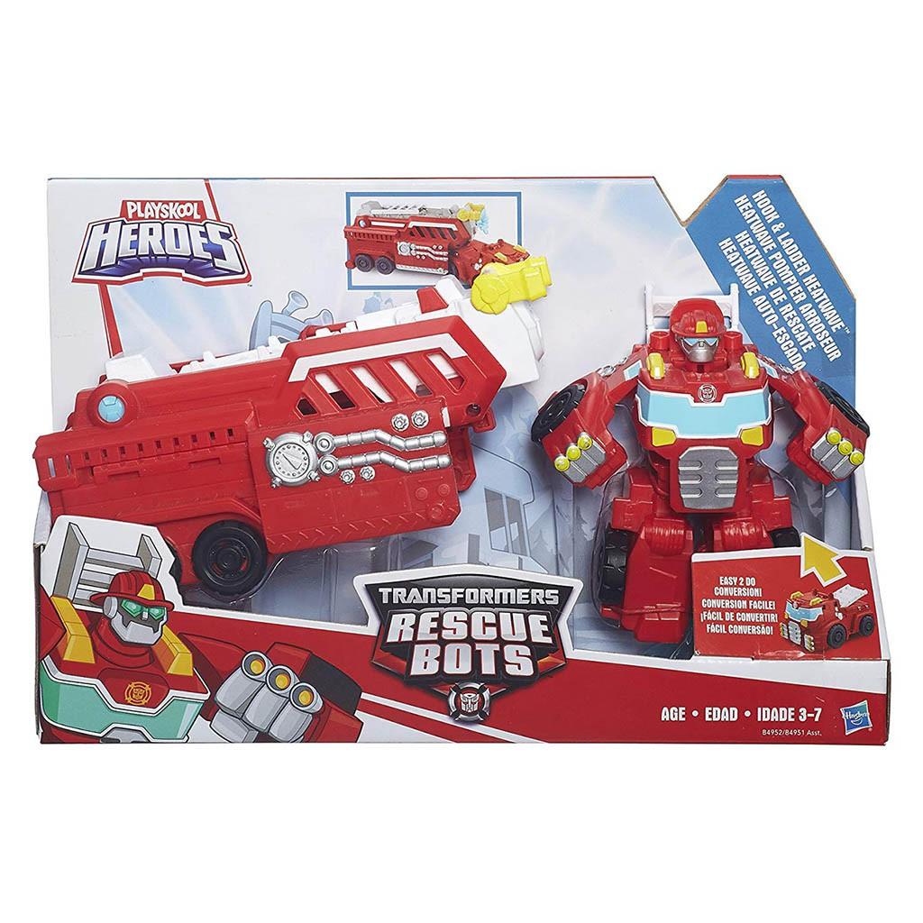 Đồ chơi Robot Transformer Rescue Bots Hook biến hình xe cứu hỏa hàng Fullbox