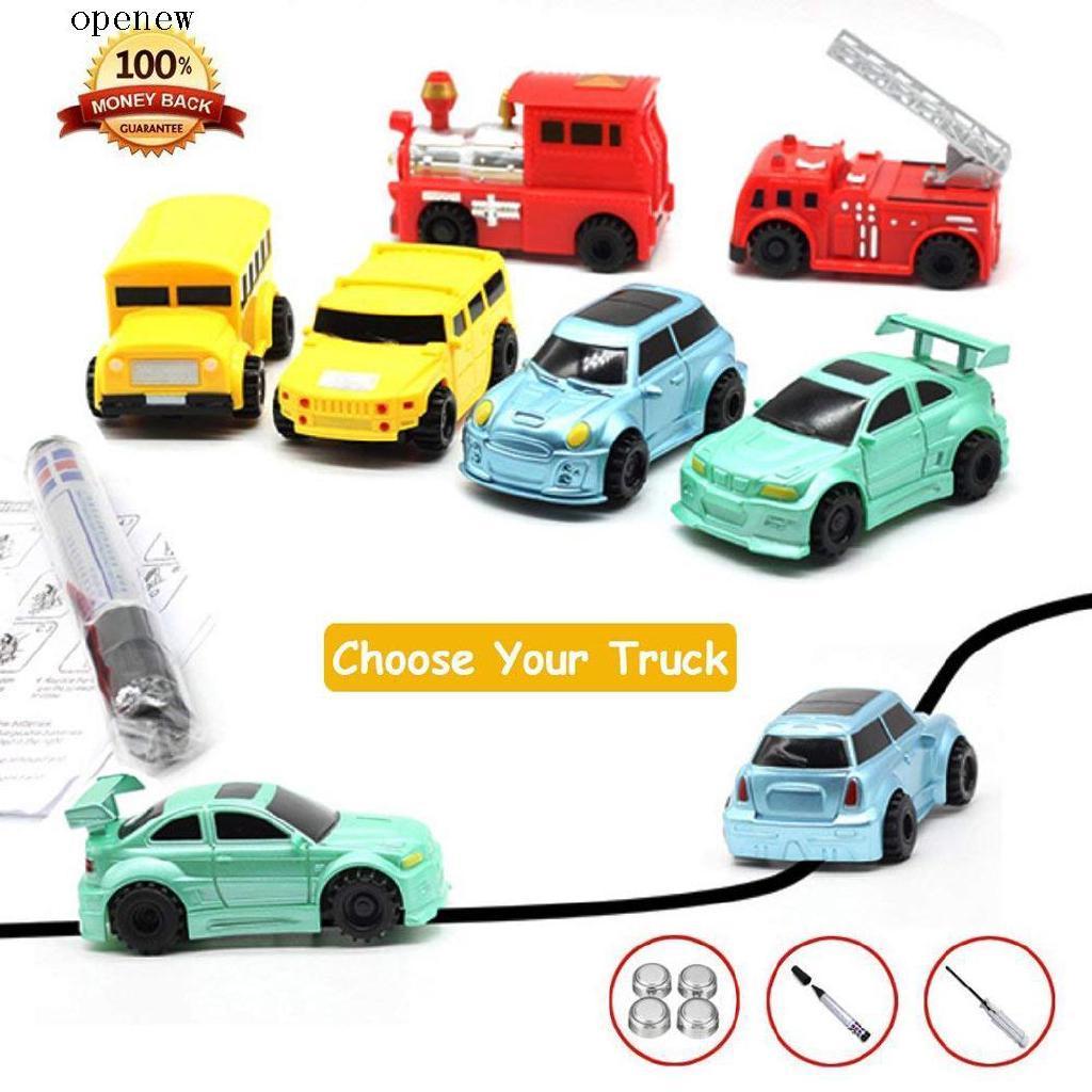 op Children Mini Creative Drawn Line Follow Electric Inductive Toy Car