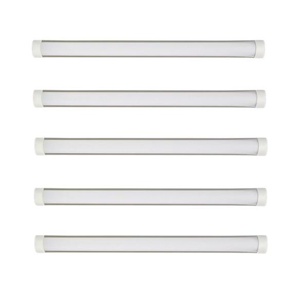 Bộ 5 đèn tuýp led bán nguyệt trắng 120cm 36w.