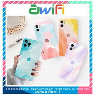Ốp lưng iphone cạnh vuông vân đá màu 6/6plus/6s/6splus/7/7plus/8/8plus/x/xr/xs/11/12/pro/max/plus/promax – Awifi B1-8