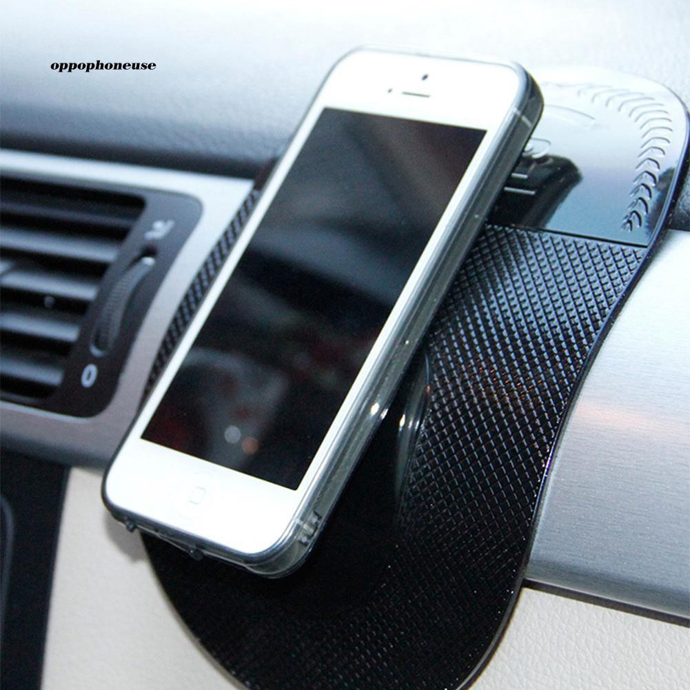 OPHE_Car Vehicle Oval Magic Anti-slip Silicone Sticky Pad Mat Mobile Phone GPS Holder