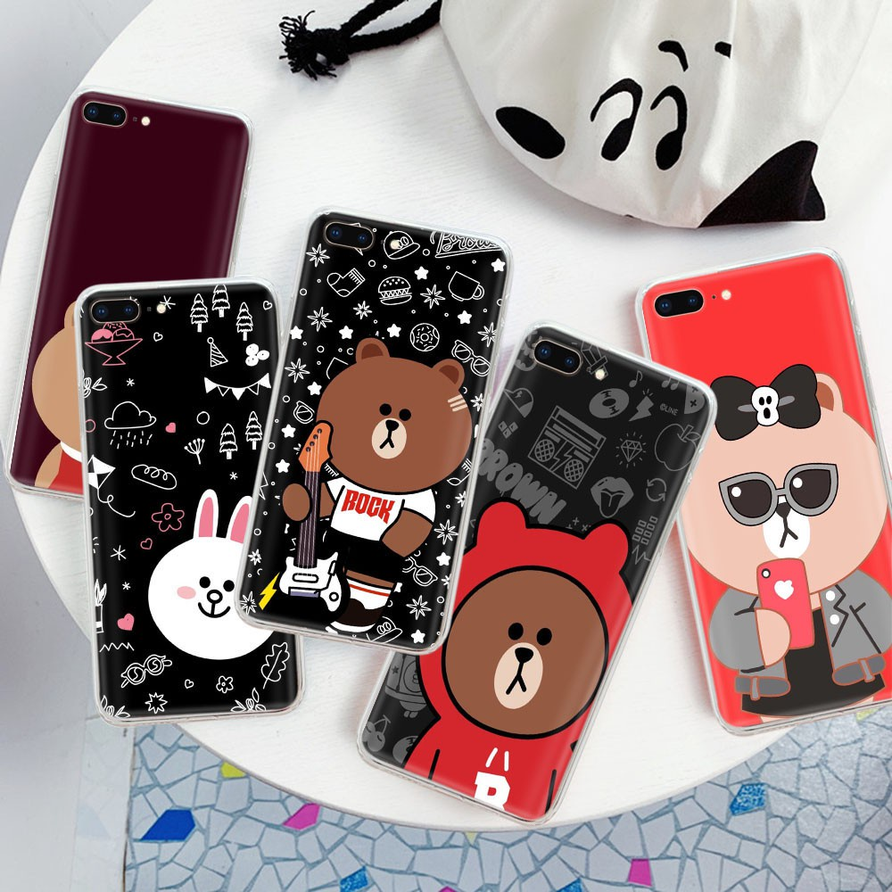 Yv16 LINE FRIENDS TPU Case Casing for iPhone 6s 6 8 7 Plus 5 5S SE 5C 4 4s