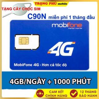Sim 4G Mobi C90N Tặng 120Gb Gọi Miễn Phí