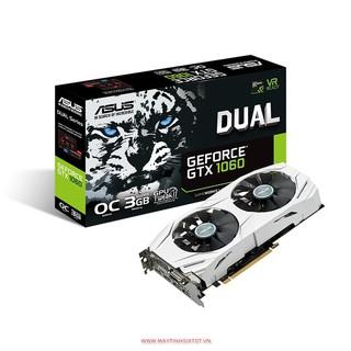 VGA CŨ ASUS DUAL – GTX1060 – O6G BẢN 6GB – 192 BIT – DDR5