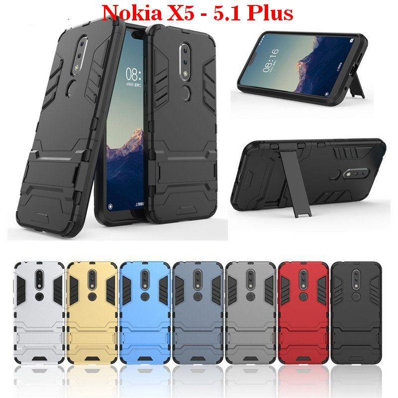 Nokia X5 - Nokia 5.1 Plus  Ốp lưng Iron man chống sốc đa tiện ích