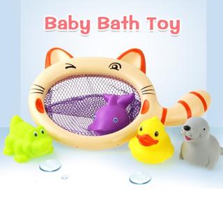 1 bộ đồ chơi nhà tắm hình cá mập vịt & cá sấu sư tử biển