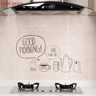 Home Home Transparent Self-adhesive Paper Stove High Temperature Oil Resistant Stickers Kitchen Tiles Oil and Waterproof Stickers Oil Fume Wall Stickers