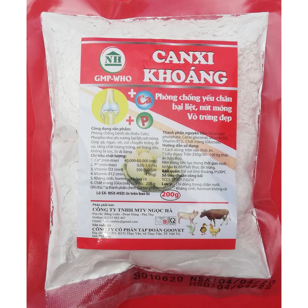 1kg CANXI KHOÁNG Phòng chống yếu chân, bại liệt, nứt móng, vỏ trứng đẹp chuyên dùng cho gia súc, gia cầm, gà đá, gà chọi