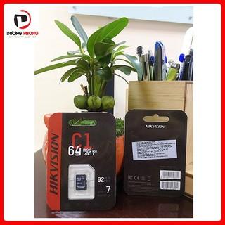 Thẻ nhớ lưu trữ HIKVISION 64GB C1 Upto 92MB/S Chuyên Dụng Cho Camera IP - BH60T Chính Hãng