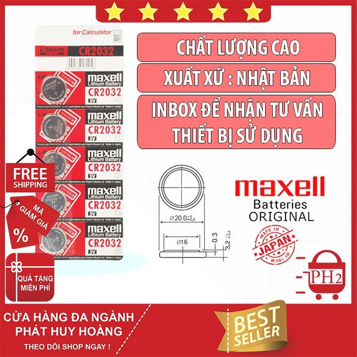 Pin Cr2032 Maxell NHẬT BẢN ✓Chính hãng ✓Chất lượng cao