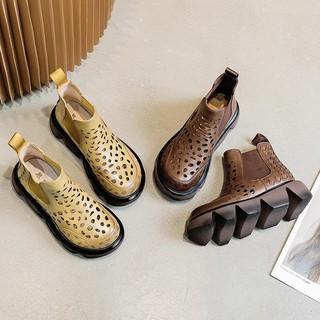 Giày Bốt Da Cổ Cao Thời Trang Dành Cho Nữ