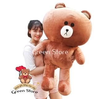 [SHOPEE TRỢ GIÁ] Gấu bông brown 1m2 khổ vải Cao Cấp cao 1m
