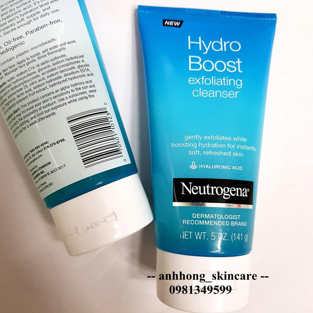 Sữa rửa mặt Neutrogena Hydro Boost Exfoliate Cleanser - 3199460 , 781605596 , 322_781605596 , 260000 , Sua-rua-mat-Neutrogena-Hydro-Boost-Exfoliate-Cleanser-322_781605596 , shopee.vn , Sữa rửa mặt Neutrogena Hydro Boost Exfoliate Cleanser