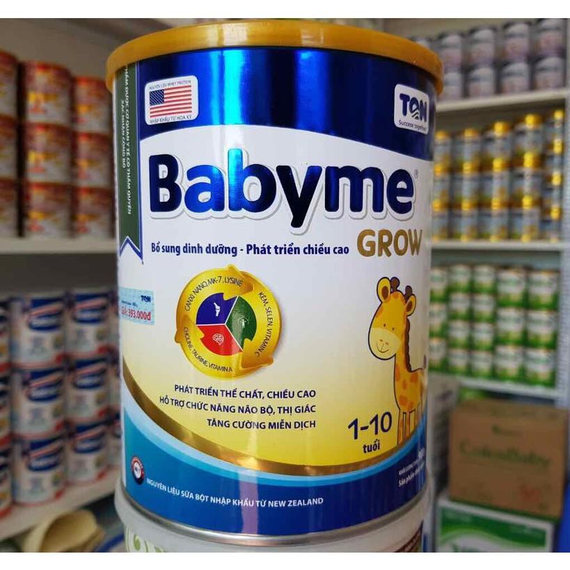 [Mã 267FMCGSALE giảm 8% đơn 500K] Sữa babyme grow 900g