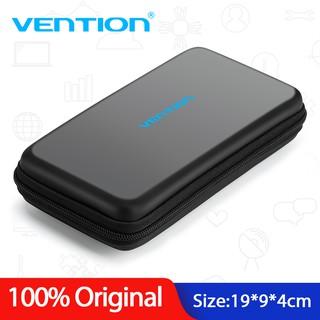 Hộp da PU Vention khóa kéo đựng cáp sạc/ đĩa USB/ ổ cứng HDD đa năng