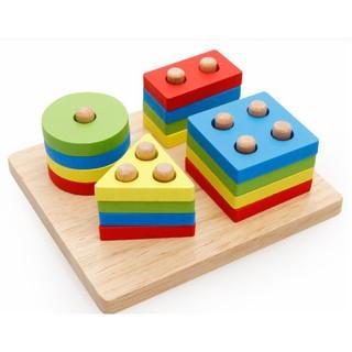 Đồ chơi gỗ – Thả hình khối đa sắc Vivitoys