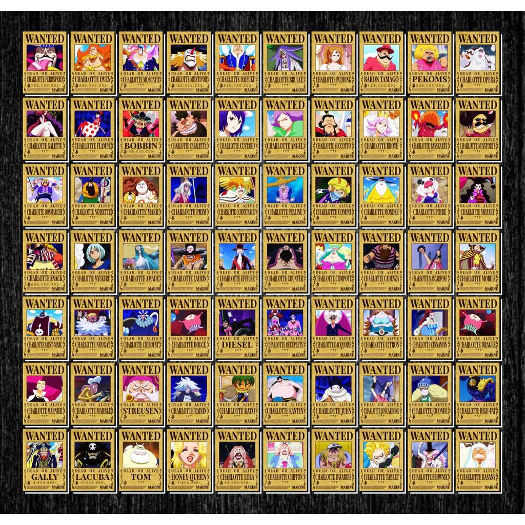 Tờ truy nã - Wanted Poster nhân vật One Piece - Khổ trung 20.3 cm x 28.7 cm