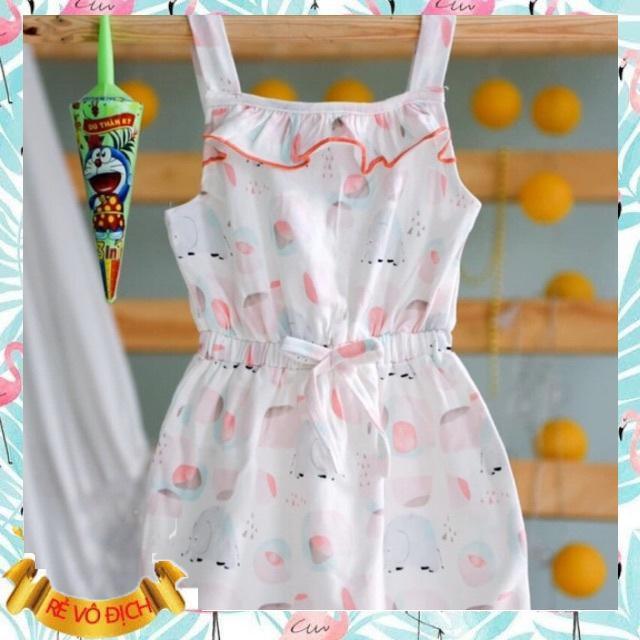Đầm váy bé gái thun cotton xuất dư siêu mềm mịn từ 10-27kg