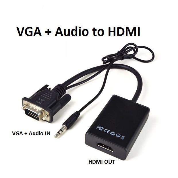 CÁP CHUYỂN VGA SANG HDMI CÓ CỔNG AUDIO