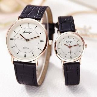 Đồng hồ thời trang nam nữ KASIQI dây da mềm đeo êm tay, mỏng chỉ 7mm, 2 màu sang trọng ( Mã AKSQ02 ) thumbnail