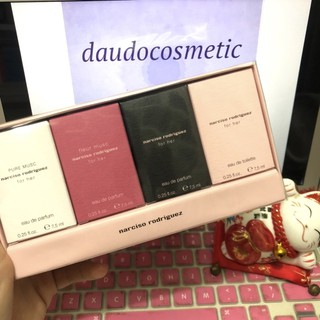 [ set mini ] Tách set Nước hoa Narciso Rodriguez Narciso For Her EDP - EDT - Pure Musc - Fleur Musc EDP 7.5ml thumbnail