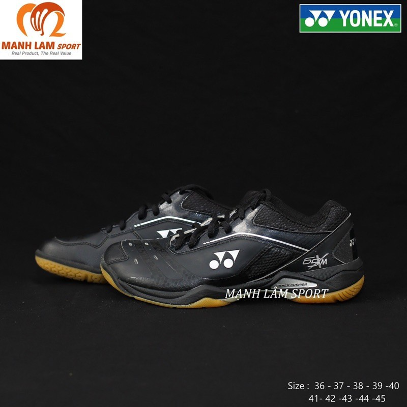 [Giày cao cấp] Giày cầu lông Yonex SHB65XM Đen chính hãng, êm chân, bám sân, bảo hành 2 tháng, 1 đổi 1 trong 7 ngày