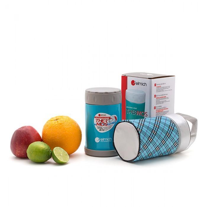 Bình đựng thức ăn hút chân không 500ml Elmich EL6844 (kèm túi) - Xanh