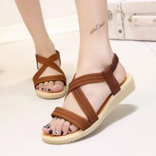 Sandal dây thun thời trang cho nữ