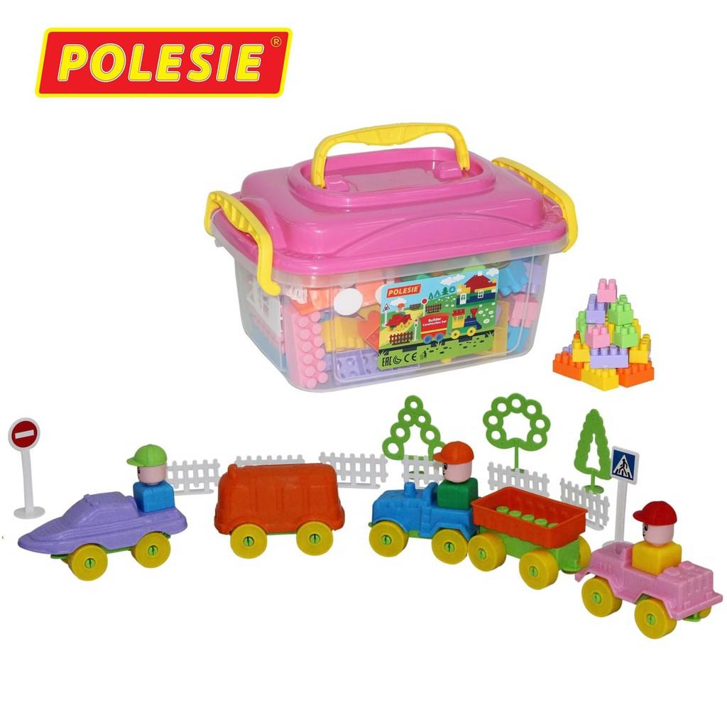 Bộ đồ chơi lắp ghép xây dựng kèm hộp đựng 136 chi tiết – Polesie Toys