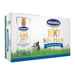 Thùng sữa tươi tiệt trùng Vinamilk Ít đường hộp 180ml (48 hộp)
