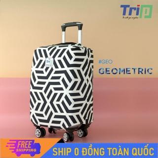 [MIỄN PHÍ SHIP] Áo trùm vali TRIP Size S dùng cho vali từ 18inch - 20inch Áo vali thời trang vải thun co dãn 4 chiềuÁo thumbnail