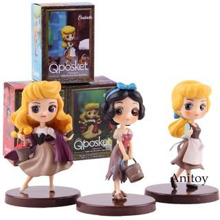 Q Posket Petit Snow White Cinderella Briar Rose Aurora Princess Doll Figure Toy