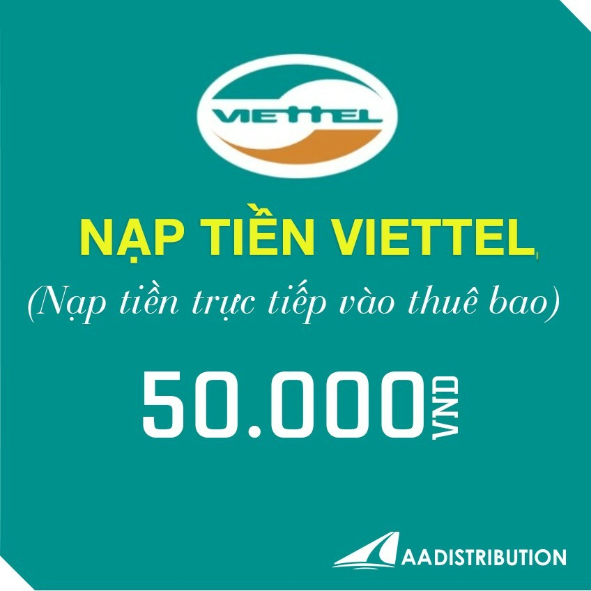 Nạp tiền điện thoại viettel 50.000