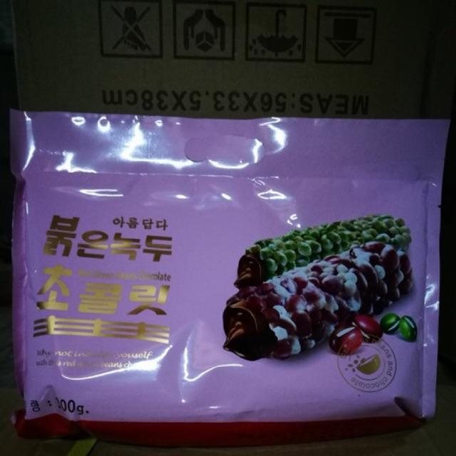 Combo 5 gói bánh cuộn socola phủ đậu xanh - đậu đỏ