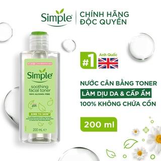 Nước hoa hồng Simple Toner làm dịu và cân bằng độ ẩm cho da - lành tính không chứa cồn 200ml [CHÍNH HÃNG ĐỘC QUYỀN] thumbnail