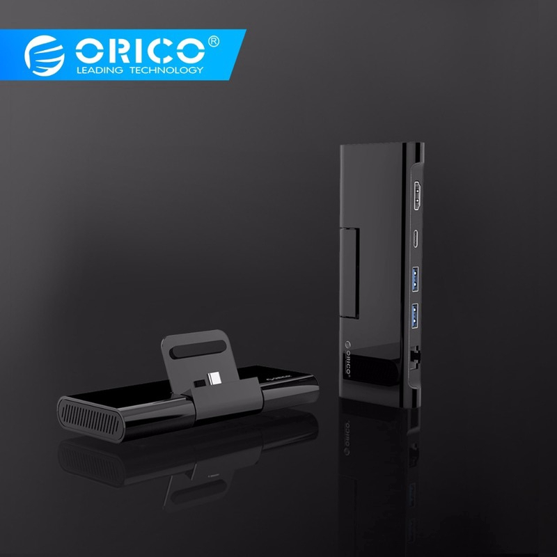 ORICO Type C Docking Station with Phone Stand Charger to HDMI RJ45 USB3.0 HUB