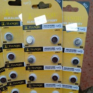Vỉ 1 Viên Pin Nút AG3 392A LR41 L736 192 TianQiu thumbnail