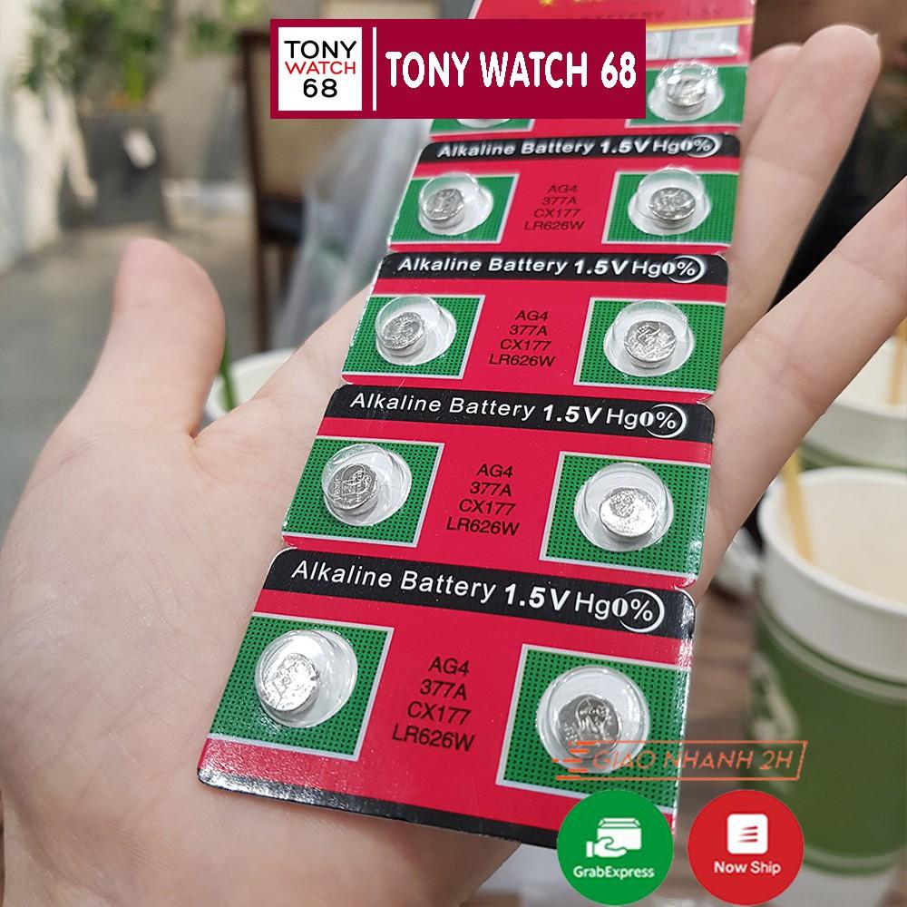 Pin đồng hồ đeo tay 1K Alkaline Battery loại nhỏ 1.5V AG4 377A CX177 LR626W