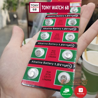 Pin đồng hồ đeo tay 1K Alkaline Battery loại nhỏ 1.5V AG4 377A CX177 LR626W thumbnail