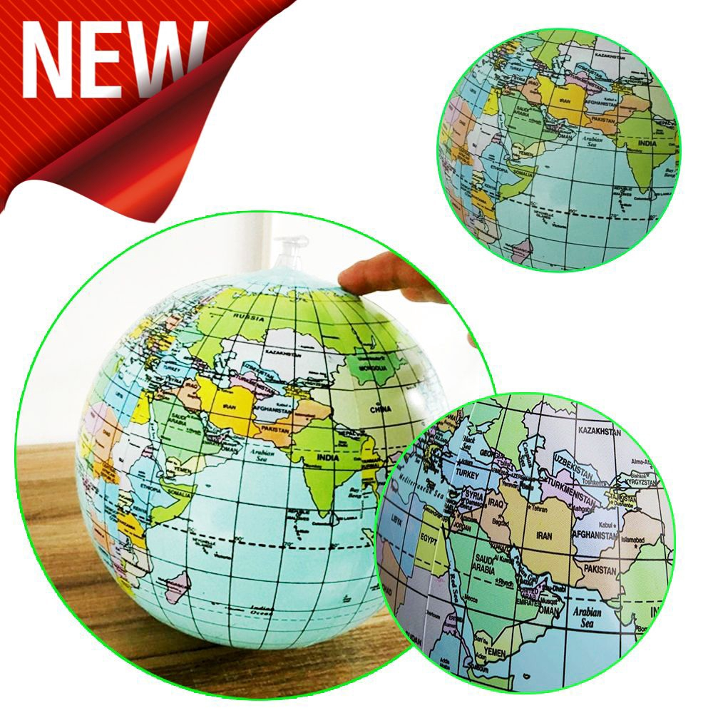30cm Hot New Children Toy Educational Water Game Inflatable Globe