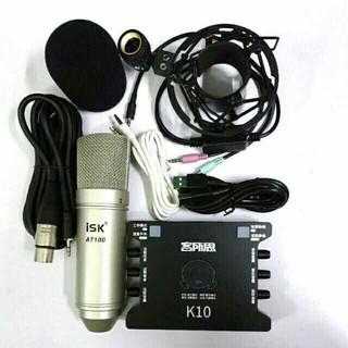 Chọn Bộ Mic Thu Âm isk AT100 chính hãng-Sound card xox k10 kèm dây live 3 màu bh 3 tháng - 308