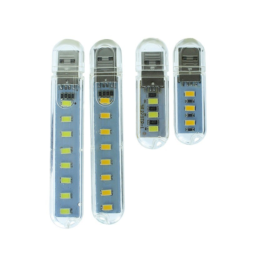 Đèn led thanh cắm cổng USB, led nguồn 3 bóng-8 bóng cắm cổng usb siêu sáng tiện dụng thích hợp để bàn học