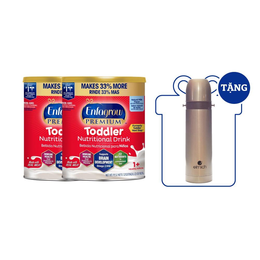 Bộ 2 Lon Sữa Bột Enfagrow Premium Toddler Hương Sữa Tự Nhiên – 907g/Lon [Nhập Khẩu Từ Mỹ]