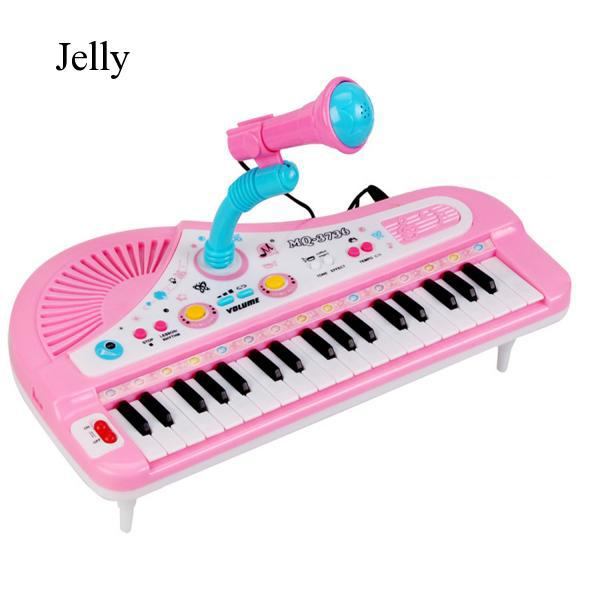 Children Kids 31 Keys Piano Microphone Electrical Music Gift Random Color J876