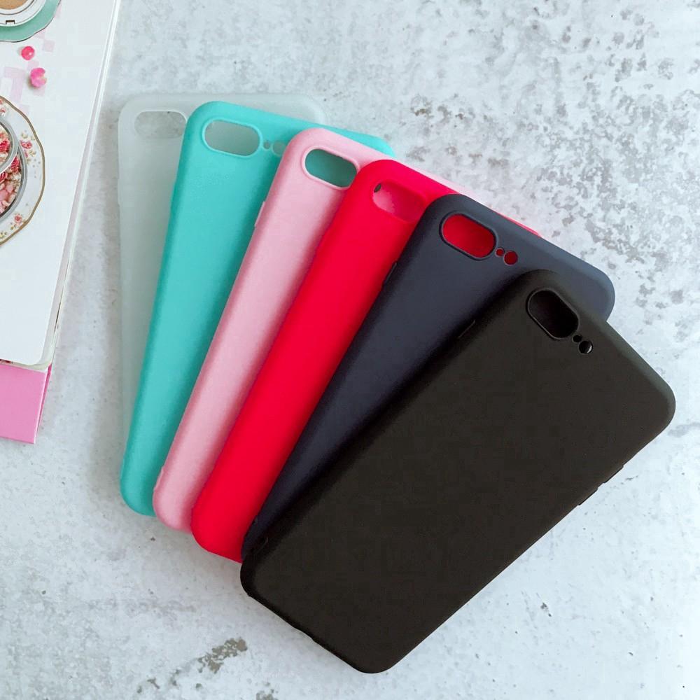 Ốp điện thoại silicone dẻo màu trơn cho IPhone 5 5S SE 6 6s 6plus