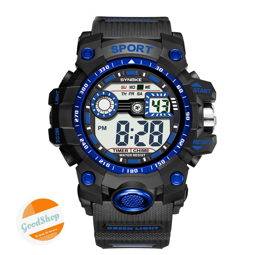 Đồng hồ nam Synoke 9006 điện tử thể thao thời trang dây cao su cao cấp