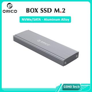 Box ổ cứng SSD M2 NVMe/SATA Orico PRM2 PRM2F-C3 | Chuyển SSD M.2 PCIe/NGFF to USB Type-C làm ổ cứng di động