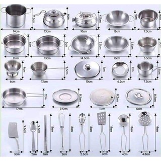 Bộ nấu ăn inox 40 chi tiết