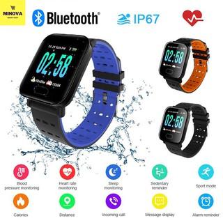 Đồng hồ kết nối Bluetooth A6 chống nước tiêu chuẩn IP67- đo nhịp tim -nồng độ máu-hỗ trợ thông báo cuộc gọi , tin nhắoại thumbnail